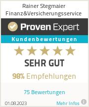 Erfahrungen & Bewertungen zu Rainer Stegmaier Finanz&Versicherungsservice
