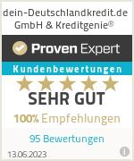 Erfahrungen & Bewertungen zu dein-Deutschlandkredit.de GmbH