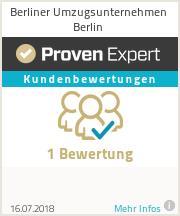 Erfahrungen & Bewertungen zu Berliner Umzugsunternehmen Berlin