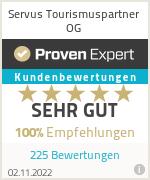 Erfahrungen & Bewertungen zu Servus Tourismuspartner GmbH