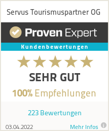 Erfahrungen & Bewertungen zu Servus Tourismuspartner OG