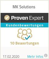 Erfahrungen & Bewertungen zu MK Solutions