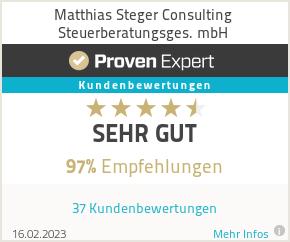 Erfahrungen & Bewertungen zu Matthias Steger Consulting Steuerberatungsges. mbH