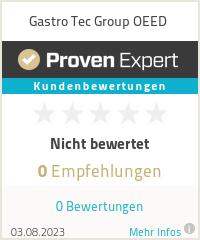 Erfahrungen & Bewertungen zu Gastro Tec Group OEED
