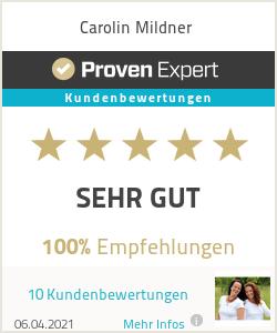 Erfahrungen & Bewertungen zu Carolin Mildner