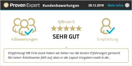 Kundenbewertungen & Erfahrungen zu Felix Jusek. Mehr Infos anzeigen.
