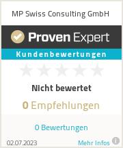Erfahrungen & Bewertungen zu MP Swiss Consulting GmbH