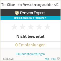Erfahrungen & Bewertungen zu Tim Götte - der Versicherungsmakler e.K.