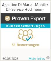 Erfahrungen & Bewertungen zu Agostino Di Maria -Mobiler DJ-Service Hochheim-