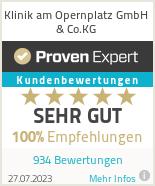 Erfahrungen & Bewertungen zu Klinik am Opernplatz GmbH & Co.KG
