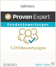 Erfahrungen & Bewertungen zu GWriters