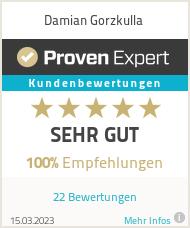 Erfahrungen & Bewertungen zu Damian Gorzkulla