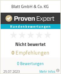 Erfahrungen & Bewertungen zu Blatt GmbH & Co. KG