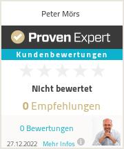 Erfahrungen & Bewertungen zu Peter Mörs