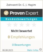 Erfahrungen & Bewertungen zu Zahnarzt Dr. C. J. Hayim