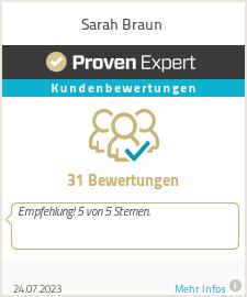 Erfahrungen & Bewertungen zu Sarah Braun