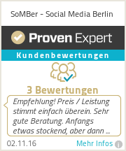 Erfahrungen & Bewertungen zu SoMBer - Social Media Berlin