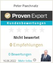 Erfahrungen & Bewertungen zu Peter Paechnatz