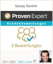 Erfahrungen & Bewertungen zu Sanjay Sauldie