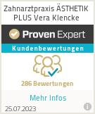 Erfahrungen & Bewertungen zu Zahnarztpraxis ÄSTHETIK PLUS Vera Klencke
