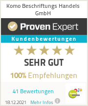 Erfahrungen & Bewertungen zu Komo Beschriftungs Handels GmbH