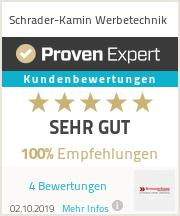 Erfahrungen & Bewertungen zu Schrader-Kamin Werbetechnik