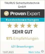 Erfahrungen & Bewertungen zu TAURUS Sicherheitstechnik GmbH