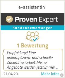 Erfahrungen & Bewertungen zu e-assistentin