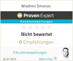 Erfahrungen & Bewertungen zu Wladimir Simonov