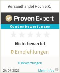 Erfahrungen & Bewertungen zu Versandhandel Hoch e.K.