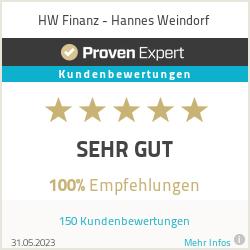 Erfahrungen & Bewertungen zu HW Finanz - Hannes Weindorf