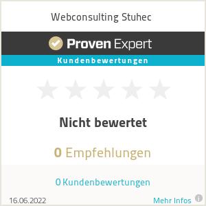 Erfahrungen & Bewertungen zu Webconsulting Stuhec