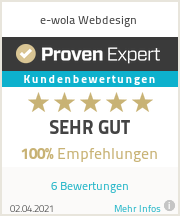 Erfahrungen & Bewertungen zu e-wola Webdesign