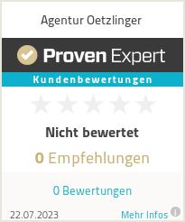Erfahrungen & Bewertungen zu Agentur Oetzlinger