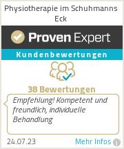 Erfahrungen & Bewertungen zu Physiotherapie im Schuhmanns Eck