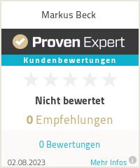Erfahrungen & Bewertungen zu Markus Beck