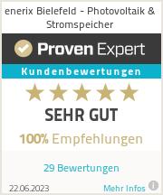 Erfahrungen & Bewertungen zu enerix Bielefeld - Photovoltaik & Stromspeicher