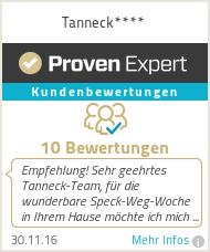 Erfahrungen & Bewertungen zu Tanneck****
