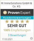 Erfahrungen & Bewertungen zu HI ImmoSolutions GmbH & Co. KG