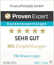Erfahrungen & Bewertungen zu FinanzPortal24 GmbH