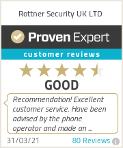 Ratings & reviews for Rottner Security UK LTD