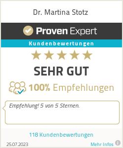 Erfahrungen & Bewertungen zu Dr. Martina Stotz