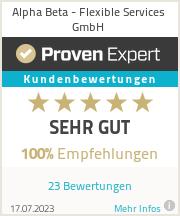 Erfahrungen & Bewertungen zu Alpha Beta - Flexible Services GmbH