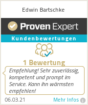 Erfahrungen & Bewertungen zu Edwin Bartschke