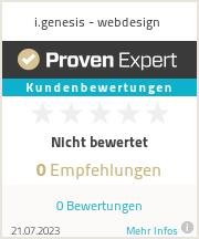 Erfahrungen & Bewertungen zu i.genesis - webdesign