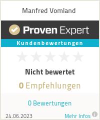 Erfahrungen & Bewertungen zu Manfred Vomland
