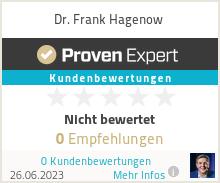 Erfahrungen & Bewertungen zu Dr. Frank Hagenow