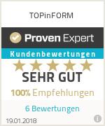 Erfahrungen & Bewertungen zu TOPinFORM