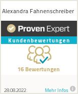 Erfahrungen & Bewertungen zu Alexandra Fahnenschreiber