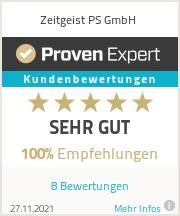 Erfahrungen & Bewertungen zu Zeitgeist PS GmbH